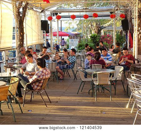 Cafe Along The Love River In Kaohsiung