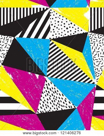 Seamless geometric doodle pattern.