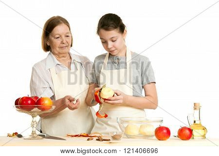 The Grandmother Teaches The Granddaughter
