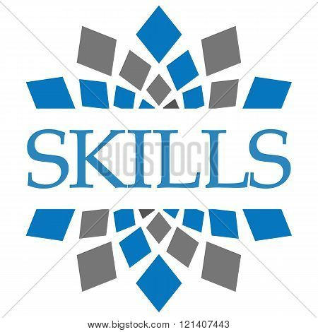 Skills Blue Grey Square Elements