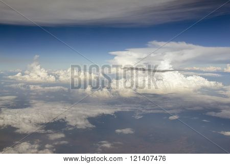 Top View Of Cloud From Airplane Window