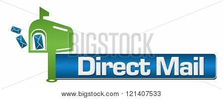Direct Mail Green Blue Symbol Stripe