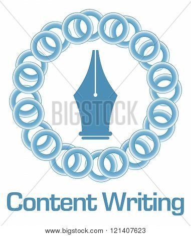 Content Writing Blue Rings Circular