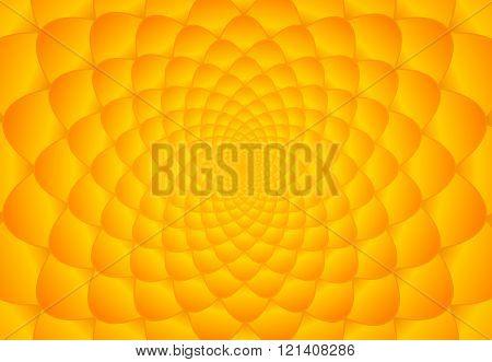 Abstract bright orange and yellow fibonacci background illustration