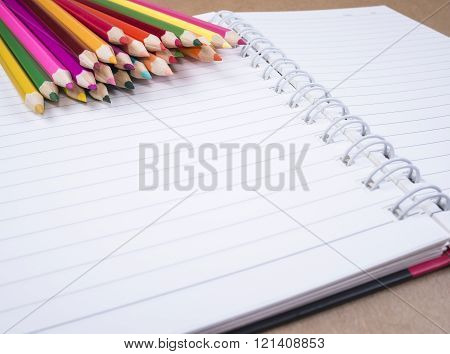 Color Pencil And Notebook
