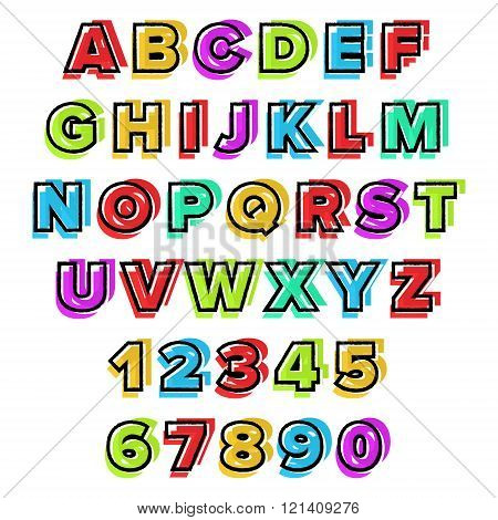 Colorful vector Alphabet. Use for design, illustration