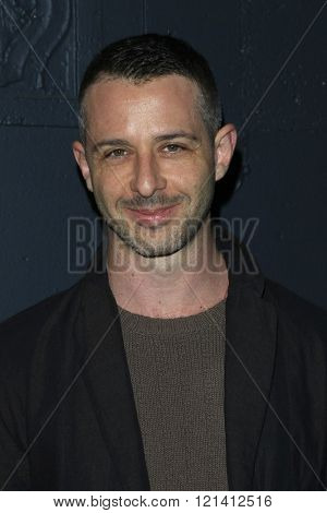LOS ANGELES - MAR 1: Jeremy Strong attends the Premiere of Broad Green Pictures' 'Knight of Cups'  at The Theatre at Ace Hotel on March 1, 2016 in Los Angeles, California
