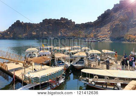 Boats Along The Nile, Egypt