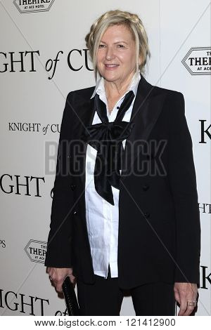 LOS ANGELES - MAR 1: Jacqueline West attends the Premiere of Broad Green Pictures' 'Knight of Cups'  at The Theatre at Ace Hotel on March 1, 2016 in Los Angeles, California