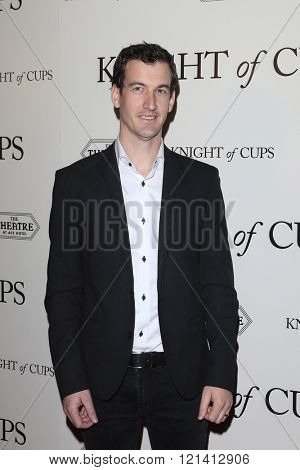 LOS ANGELES - MAR 1: Hanan Townshend attends the Premiere of Broad Green Pictures' 'Knight of Cups'  at The Theatre at Ace Hotel on March 1, 2016 in Los Angeles, California