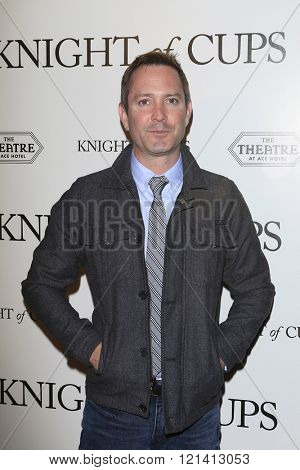 LOS ANGELES - MAR 1: Thomas Lennon attends the Premiere of Broad Green Pictures' 'Knight of Cups'  at The Theatre at Ace Hotel on March 1, 2016 in Los Angeles, California