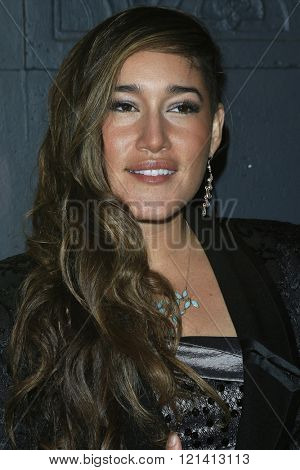LOS ANGELES - MAR 1: Q'orianka Kilcher attends the Premiere of Broad Green Pictures' 'Knight of Cups'  at The Theatre at Ace Hotel on March 1, 2016 in Los Angeles, California