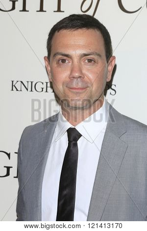 LOS ANGELES - MAR 1: Joe Lo Truglio attends the Premiere of Broad Green Pictures' 'Knight of Cups'  at The Theatre at Ace Hotel on March 1, 2016 in Los Angeles, California