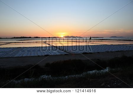 Salt Mill at Marsala, Sicily