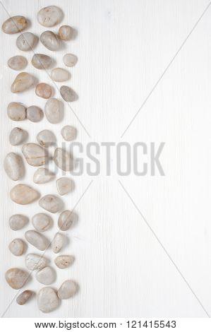 White Pebble On The White Board