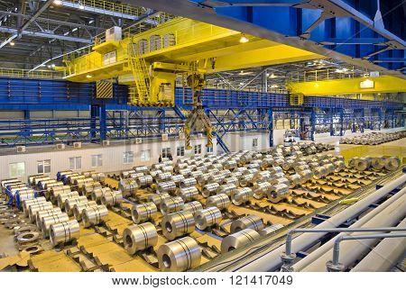 Rolls of galvanized steel sheet