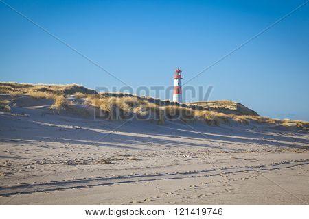 Lighthouse at the Ellbow List Sylt, North Sea