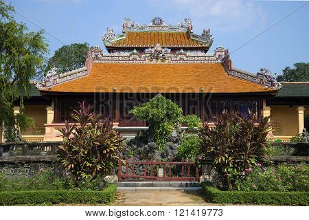 The Imperial Pavilion in the Forbidden Purple City. Hue, Vietnam