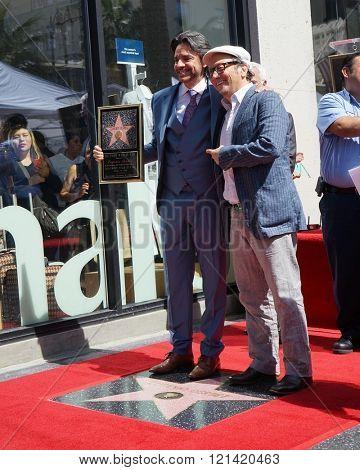 LOS ANGELES - MAR 10:  Eugenio Derbez, Rob Schneider at the Eugenio Derbez Hollywood Walk of Fame Star Ceremony at the Hollywood Walk of Fame on March 10, 2016 in Los Angeles, CA