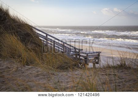 Weststrand Beach At The Island Of Sylt