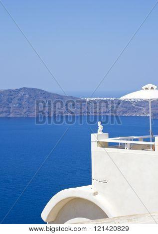 Panorama beautiful island of Santorini - Greece, Europe