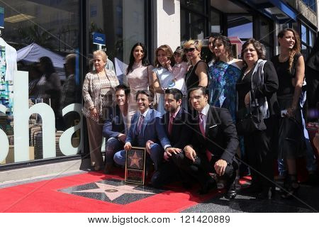LOS ANGELES - MAR 10:  Eugenio Derbez, family at the Eugenio Derbez Hollywood Walk of Fame Star Ceremony at the Hollywood Walk of Fame on March 10, 2016 in Los Angeles, CA