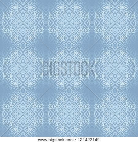 Seamless diamond pattern white light blue gray