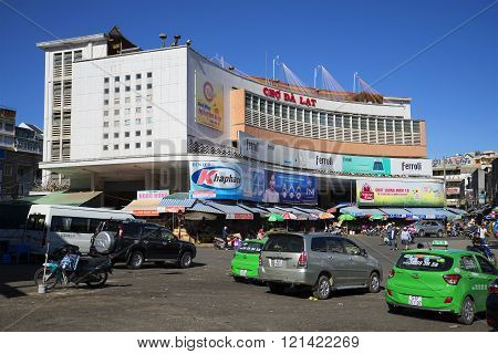 The building of the Central market of Dalat. Vietnam