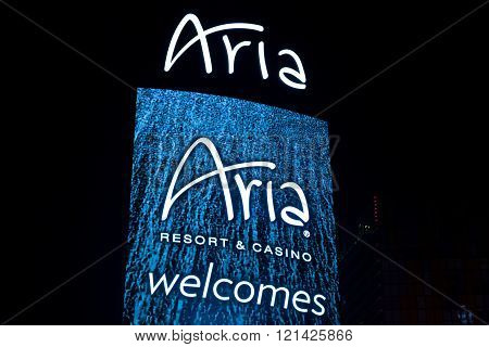 Aria Resort And Casino  At Night