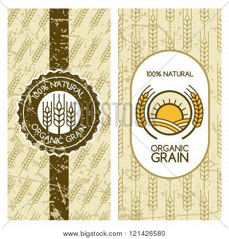 Seamless Grunge Pattern With Wheat Grain.