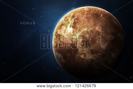 Venus - High resolution 3D images presents planets of the solar system. This image elements furnishe