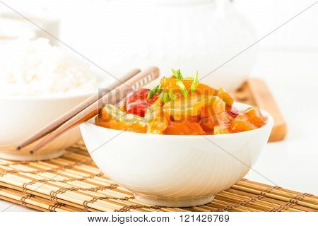 Sweet And Sour Chicken Closeup