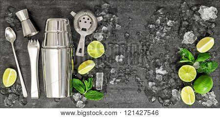 Drink Making Tools Ingredients Cocktail Mojito Caipirinha