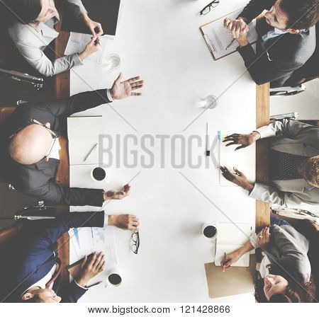 Business Team Meeting Planning Strategy Concept