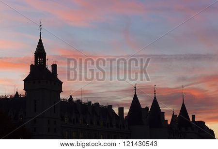 Conciergerie palace in the city of Paris Ile-de-france France