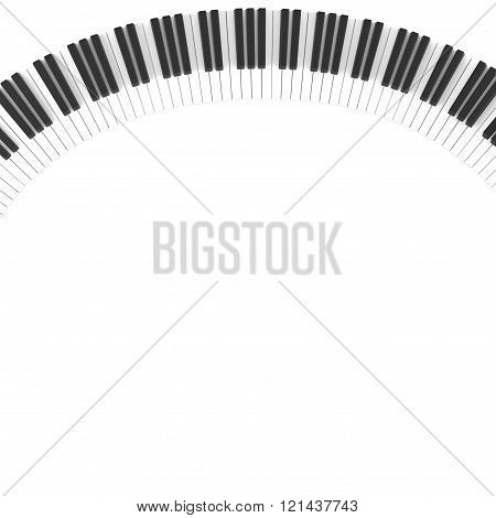 black and white keys piano keyboard