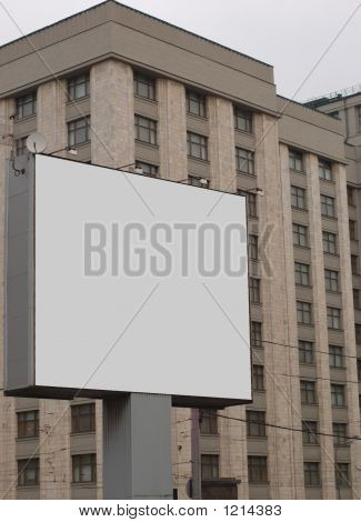 Advertisement Hoarding In Front Of Big Building