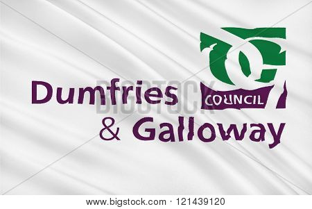 Flag Of Dumfries And Galloway Council Of Scotland, United Kingdom Of Great Britain
