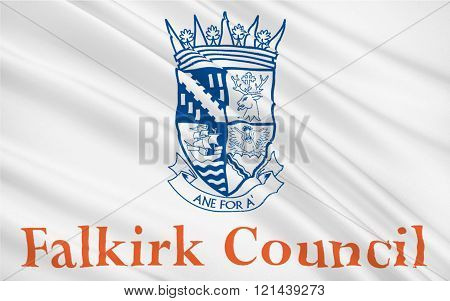 Flag Of Falkirk Council Of Scotland, United Kingdom Of Great Britain