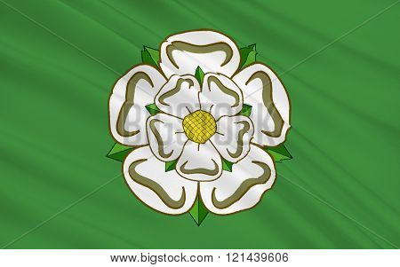 Flag Of North Yorkshire County, England