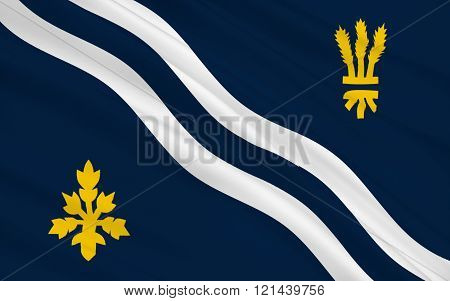 Flag Of Oxfordshire County, England