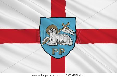 Flag Of Preston City, England