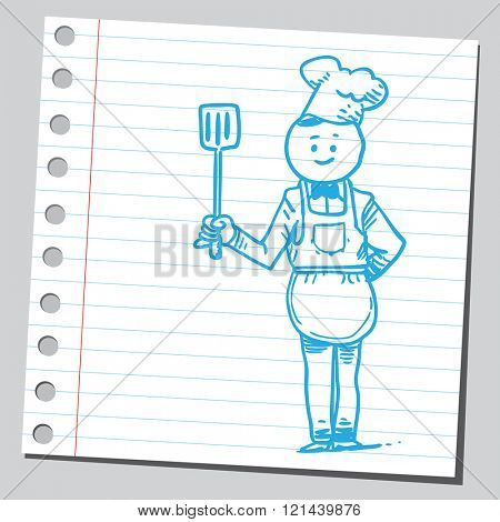 Chef with spatula