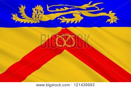 Flag Of Staffordshire Is A Landlocked County, England