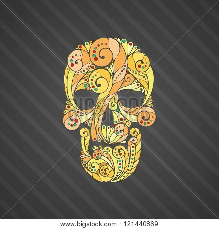 Tribal tatto skull.