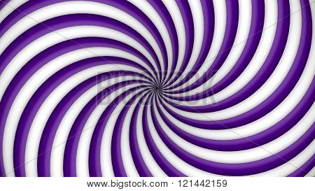 Purple and white rotating hypnosis spiral (seamless loop)