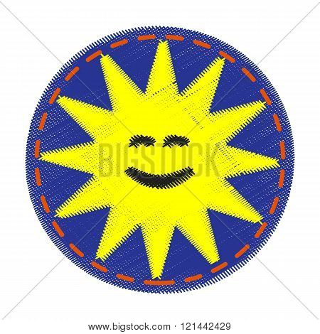 Patch with sun - for kids