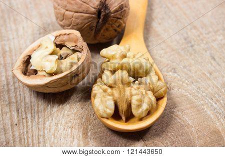 Closeup Of A Walnut.