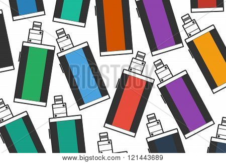 electronic cigarette on color background vaping