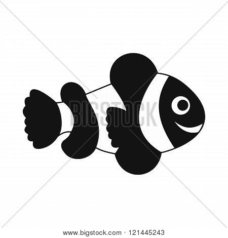 Clownfish flag icon, simple style